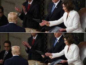ترامپ ئامادە نییە تەوقە لەگەڵ پیلۆسی بکات