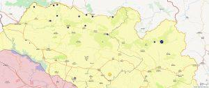 شوێنی بارەگاکانی دەوڵەتی تورک لە باشوری کوردستان